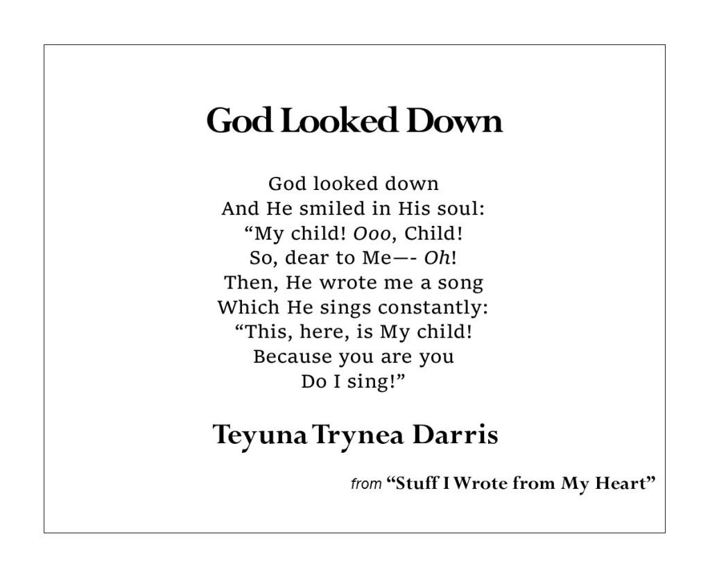 God Looked Down by Teyuna T. Darris