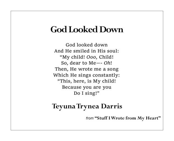 God Looked Down by Teyuna T. Darris