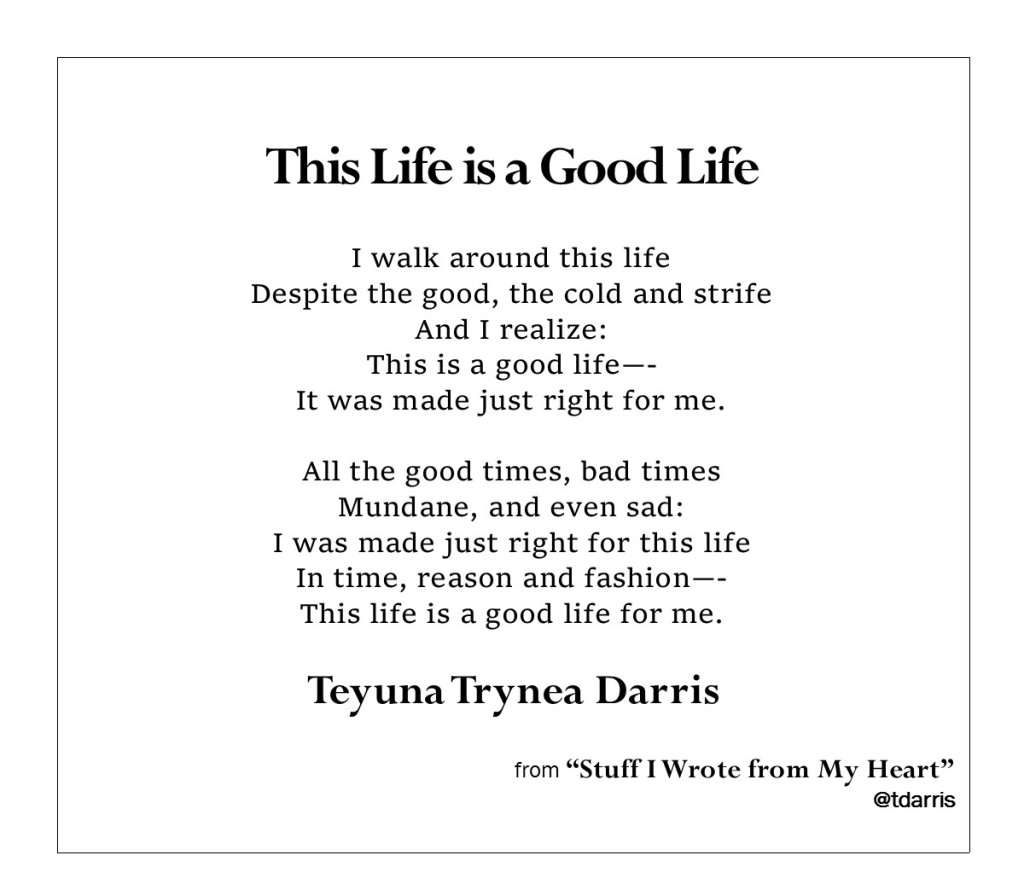 This Life is a Good Life by Teyuna T. Darris